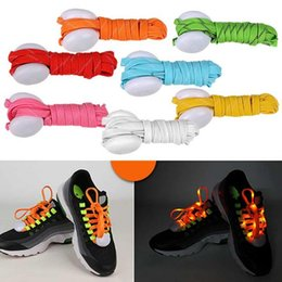 Ems running shoEs online shopping - Multicolor Fashion Glow Led Shoelaces Flash Neon Shoe laces Flashing Luminous Shoe Lace for Sports Running Party DHL FEDEX EMS