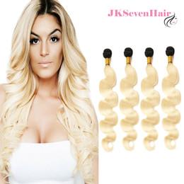 $enCountryForm.capitalKeyWord NZ - Brazilian Virgin Hair Weaves 1B Blonde Body Wave 4PCS Russian European Human Hair Bundles 1B-613 Malaysian Hair Weft