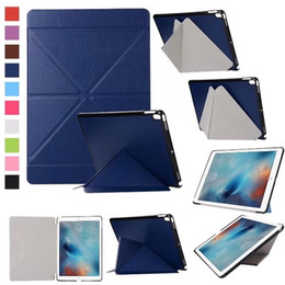 Discount new ipad magnetic covers - For ipad pro 10.5 11 12.9 Transformers Magnetic Case PU Leather Cover with Auto Sleep Wake For iPad 6 Air 2 pro 9.7 new