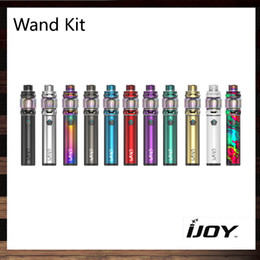 red blue power chip Canada - iJoy Wand Kit With 5.5ml Diamond Tank 100W Built-in 2600 mAh Battery 0.15ohm DM-Mesh Coil Powered by IWEPAL Control Chip 100% Original