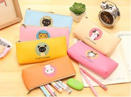 Cat pen Case online shopping - High quality cute pen bag popular student nice pencil case office stationery creative cat pencil bag