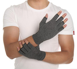 $enCountryForm.capitalKeyWord Canada - 1 Pair Women Men Cotton Therapy Compression Gloves Hand Arthritis Joint Pain Relief Grey Free Shipping