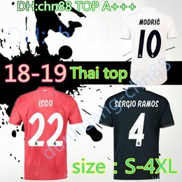 40c4bf333 SIZE XXL 3XL 4XL 2018 2019 Real Madrid top quality home away Soccer jerseys  18 19 ISCO RONALDO MODRIC BALE Arsenio New font football shirts