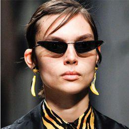 fc6d7b5abe Hip Hop Cat Eye Sunglasses 2018 Brand Designer Luxury Sun Glass For Women  Small Metal Frame Ladies Retro Vintage Eyewear Shades