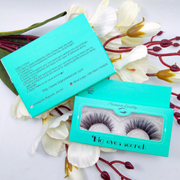 False Eyelashes Retail Package Australia - Eye Lashes 3D False Eyelashes Extension 3D Fake Eyelashes Mink eyelashes 10pairs with retail package Private Label Customize Eyelash Box