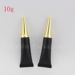 golden bottle cosmetic 2019 - 10ML Empty Eye Cream Cosmetic Tubes Black Squeeze Soft Container Gold Screw Lid , Unguent Bottle Black Golden Caps 100pc