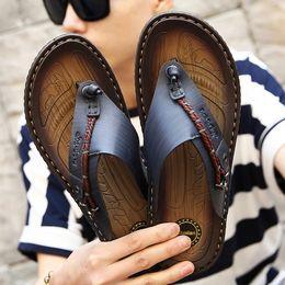 $enCountryForm.capitalKeyWord Canada - Summer Men Flip Flops High Quality Beach Sandals Non-slip Male Slippers Genuine Leather Luxury Slippers Casual Shoes Men Q-35
