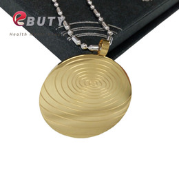 Pendant energy ion online shopping - EBUTY Gold Stainless Steel Quantum Scalar Energy Pendant with Far Infrared Negative Ion Germanium Stones