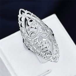 Hollow Fingers Australia - Fashion Cute 925 Sterling Silver Filled Hollow Big Ring Ladies Finger Jewelry Gift