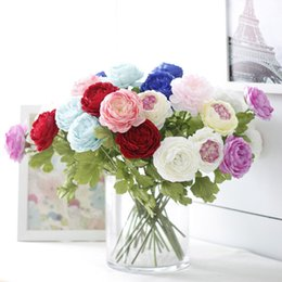 $enCountryForm.capitalKeyWord UK - Wholesales 8 Colors 45*9cm European Rose Silk Fake Flowers Bridal Bouquets Artificial Plants Wedding Centerpieces Party Decoration