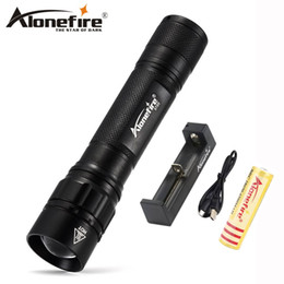 Flash Drive Battery NZ - AloneFire X720 Outdoor Camping Tactical Flash Light Torch Spotlight Q5 led zoom flash lights Lantern for 18650 battery