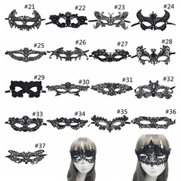 Women Animal Halloween Costume NZ - Sexy Lace Party Masks Women Ladies Girls Halloween Xmas Cosplay Costume Masquerade Dancing Valentine Half Face Mask GGA1053 1000pcs