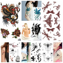 king arms 2019 - King Horse Arm Tattoo Sleeve Flash Temporary Tattoo Sticker cock dragonfly Phoenix bee Swallows tattoos discount king ar