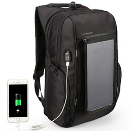 travel laptop charger 2019 - Dropshipping Outdoor Travel Solar Backpack Laptop Bag USB Charger Duffel Bag Business Designer backpack Solar Charger Ba