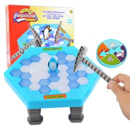$enCountryForm.capitalKeyWord Australia - Penguin Trap Game Interactive Toy Ice Breaking Table Plastic Block Games Penguin Trap Interactive Games Toys for Kids 36 set lot