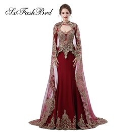 6802576c1e30 Fashion Elegant Girls Dress O Neck Long Sleeves With Shawl Mermaid Satin  Long Party Formal Evening Dresses for Women Prom Dress Gowns