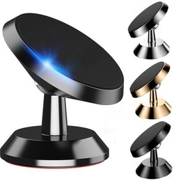 Wholesale 360 Degree Magnetic Car Mount Holder Stand Metal Alloy Rotation phone bracket for iphone x samsung android phone gps