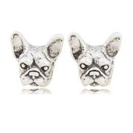 Chinese  wholesale Black French Bulldog Stud Earrings Elf Ears Cuff Pendiente Animal Dog Clip On Earrings For Women Unique Gifts manufacturers