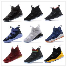62a88bcdf196 High Quality Lebrons Court General Basketball Shoes Soldiers 11 Magic  Buckle James 11s Mens Casual Shoes 7-12