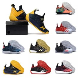 f16fc4dbad71 Hot 2018 High qualityl James Harden Vol 2 Basketball Shoes black white grey  mens harden vol.2 Sneakers for sale 7-11.5