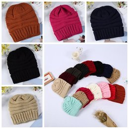 88fc754a794 15 Colors Adults Knitted Hats Winter Knitted Slouchy Skull Caps Ski Baseball  Cap Stretchy Knitted Slouch Cap Party Hats CCA10701 200pcs