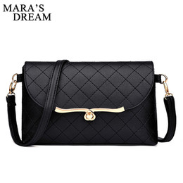 Color Leather Bags Australia - Mara's Dream Women Shoulder Bag PU Leather Solid Color Black Handbags Fashion Hasp Women Crossbody Messenger Bags Mini Clutchs