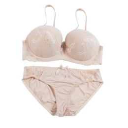 ece9ca6b33b98 2018 1pcs Female Women Bra + Briefs Set Solid Lace Sexy Lingerie Women  Underwear Push Up Bra Plus Size Big Size Dropshipping