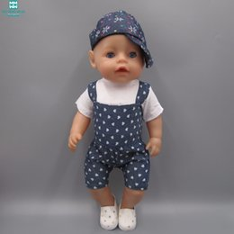 $enCountryForm.capitalKeyWord Canada - Striped T-Shirt + Imitation Cowboy Pants Clothes for dolls fits 43 cm Baby Born zapf dolls Accessories for Child's birthday gift