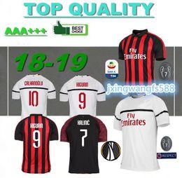 18 19 Milan HIGUAIN Soccer Jerseys home 2018 2019 SUSO ROMAGNOLI CUTRONE  KESSIE Milan away LOCATELLI CALHANOGLU 3rd football shirt b5d54ebe0
