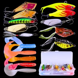 $enCountryForm.capitalKeyWord NZ - Mix styles fishing lure set Frog Shad Crankbaits 15pc set Plastic Metal Laser bait with Plastic Box