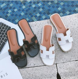 2018 new H-type slippers female summer fashion wear Korean wild flat leather ins sand beach sandals with paypal sale online authentic cheap online buy cheap exclusive very cheap price b64SzAwSX