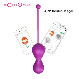 male vaginal sex toys Canada - G-spot Ben Wa Balls Vibrating Kegel Balls APP Control Smart Kegel Exercise Ball Vaginal Trainer Vibrator Eggs Sex Toys for Woman S19706
