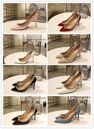 Discount burgundy dance shoes - Women high heel wedding dress shoes famous brand sexy ladys pumps Genuine Leather fashion Slip-On party dance shoes girl