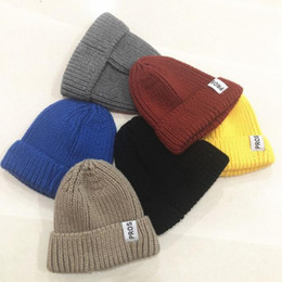 $enCountryForm.capitalKeyWord Australia - fall winter warm caps for women Affixed cloth wool hats for men and women lovers fall and winter warm letter knitting yuppie course