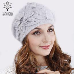 544455a1 Fleece Scarf Gloves Set Canada - SUPANDAN Knitted Hand Made Beret Hat Scarf  Set Women Fleece