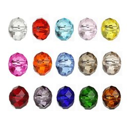 Discount 6mm crystal rondelle beads - AnnBeady 50pcs 6mm Faceted Rondelle Loose Spacer Round Austria Crystal beads For DIY Jewelry Making