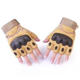 Chinese  Tactical Fingerless Gloves Military Army Shooting Paintball Airsoft Bicycle Motorcross Combat Hard Knuckle Half Finger Gloves manufacturers