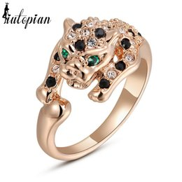 Austrian Crystals Italina Ring NZ - Fashion Jewelry Rings Italina Unique Leopard Series Ring For Women With Austrian Crystal Stellux Party Jewelry #RG91207
