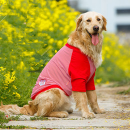 053d9563d4f4 Large Dog Vest Spring Summer Clothing For Big Dog T -Shirt Golden Retriever  Labrador Siberian Husky Dog Clothes Gros Chiens