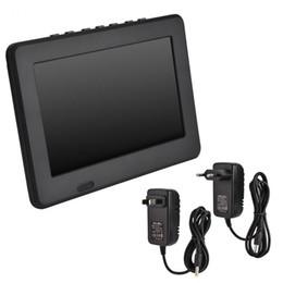 Freeshipping 7 дюймов автомобиль портативный телевизор перезаряжаемые цифровой цветной телевизионный плеер TFT-LED экран с ЕС США адаптер опционально
