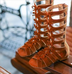 Wholesale 2018 New Kids Fashion Sandals Children s Alpine Sandal Summer Roman Shoe Girl Topless Beach Shoe