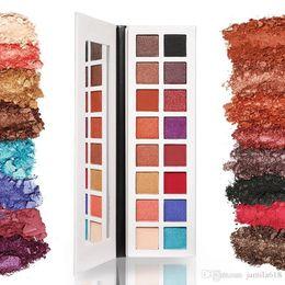$enCountryForm.capitalKeyWord NZ - wholesale high pigment 16 colors makeup eyeshadow palette rainbow eyeshadow Matte and Shimmer eyeshadow Cosmetic Make up eye shadow palette