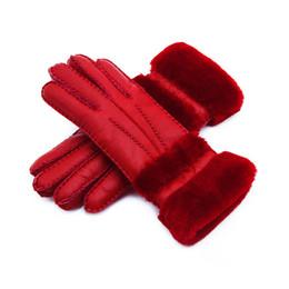 2018 новые женщины высокое качество кожаные перчатки женщины шерстяные перчатки Бесплатная доставка гарантия качества-удлиненные