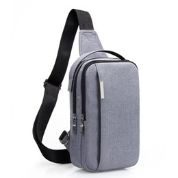 Chinese  Male Shoulder Bags USB Charging Crossbody Bags Men Anti Theft Chest Bag School Summer Short Trip Messengers Bag 2018 manufacturers