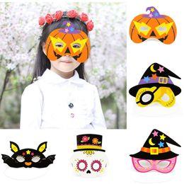 $enCountryForm.capitalKeyWord NZ - Cartoon Half Face Mask Witch Bat Eye Masks Buccaneer Paper Masks For Kids Baby Halloween Party Favors Supplies