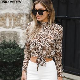 ed8f2cc476d7 Sexy Women Tops Blouses Leopard Print Long Sleeve Chiffon Loose Blouses  Shirt Camisa Feminina Blusas Chemise Femme Autumn Tops
