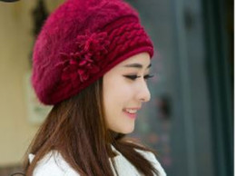 Fallen Hats Australia - 2018 hot sale Rabbit hair female winter fashion leisure in the fall and winter of beret joker hat Korean knitting