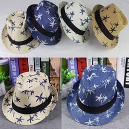 f9eea64b4f3 Maple Leaf Hats Canada - Beach Panama Straw Bucket Hat Casual Floppy  Foldable Ladies Women Maple