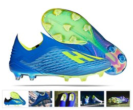 the latest 74726 e6169 2018 new ACE X 18.1 Purechaos FG Football Cleats laceup green black Outdoor  Football Shoes X ACE Tango 18 PureControl Soccer Boots
