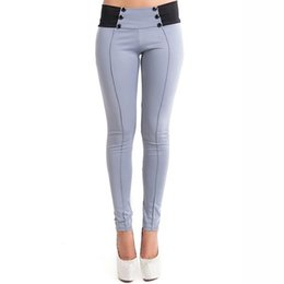 Whites Trousers For Women NZ - Autumn Trousers For Women Pencil Pants Female Long Trousers Stretch Modal Mid Waist Straight Pants Long Skinny Pants 907906